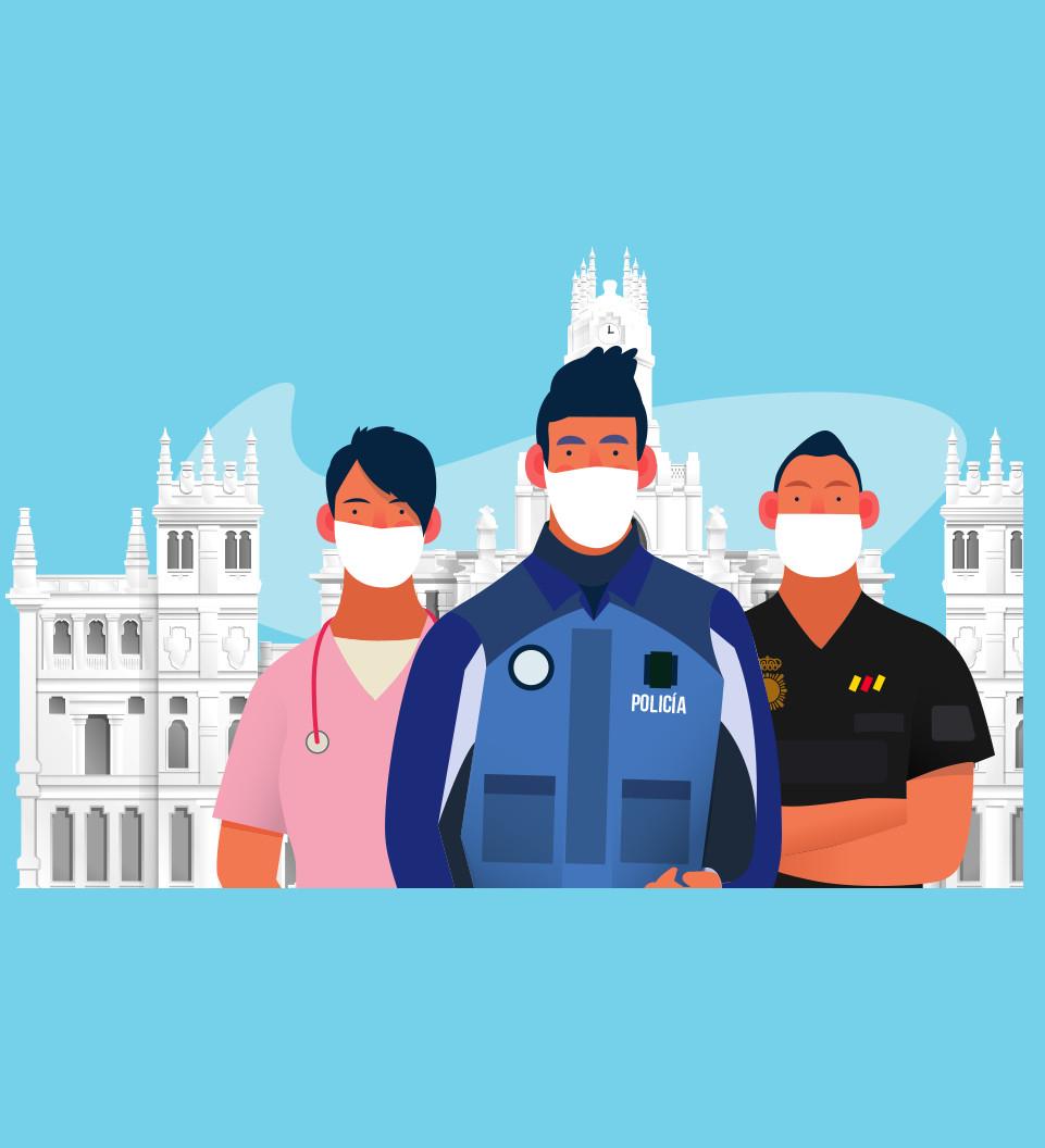 MADRID OS DA LAS GRACIAS: Tarjeta de 7 días para Sanitarios, Policías, Bomberos (Noches de hotel, Museos, Teatros gratis y más descuentos).