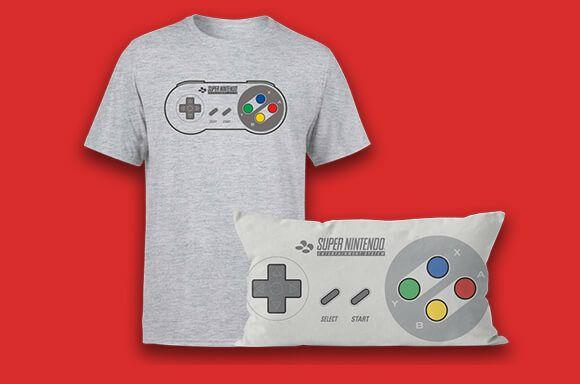 Pack cojín +camiseta SNES