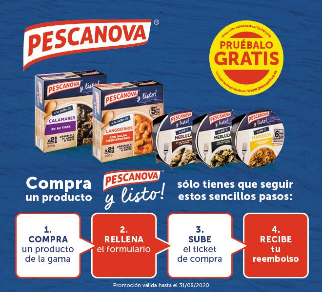Prueba gratis productos Pescanova (Reembolso)