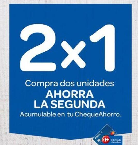 Carrefour desde el 14/07: 2x1 en ChequeAhorro