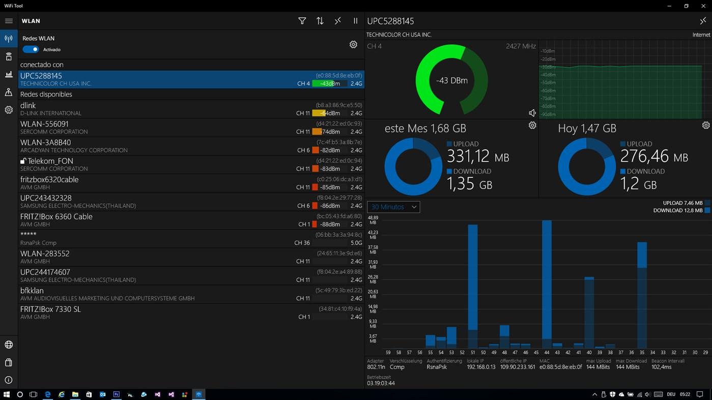 Herramienta WiFi: analizador y escáner para PC