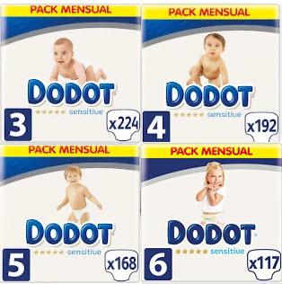 Recopilatorio Pañales Dodot Sensitive en Mínimos: Desde 0,16€/unidad