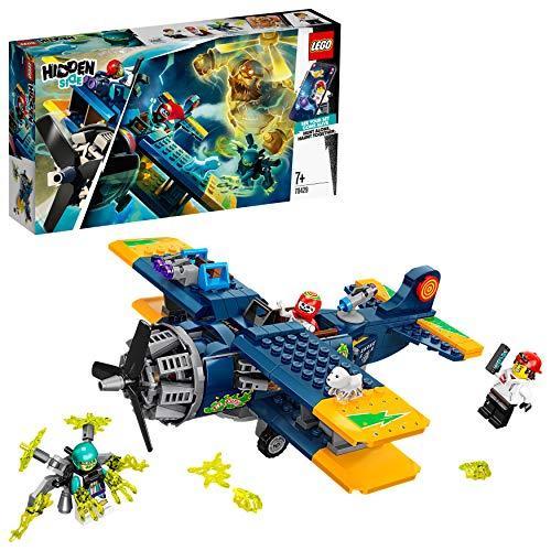 LEGO Hidden Side - Avión Acrobático de El Fuego, Set con Avioneta y Fantasmas de Juguete, Juego de Construcción con App Realidad Aumentada