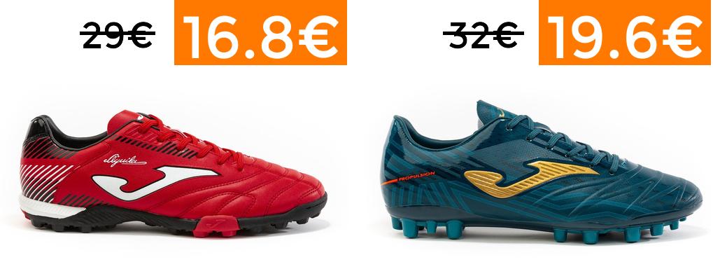 Descuentos en selección zapatillas de fútbol Joma