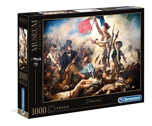 Clementoni- Puzzle 1000 Piezas Museos Delacroix: La Libertad guiando al Pueblo