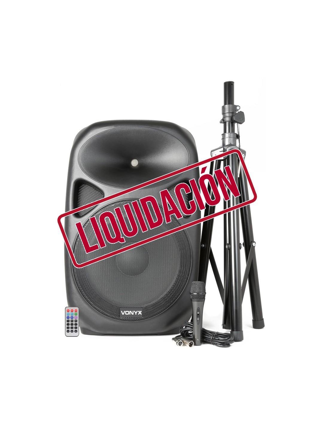 Altavoz Bluetooth con reproductor MP3 + Trípode + Micro + Mando a distancia