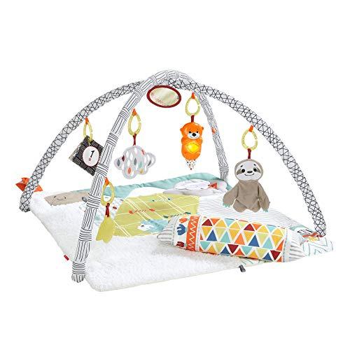 Fisher-Price Gimnasio sensorial llama, manta de juego para bebés recién nacidos