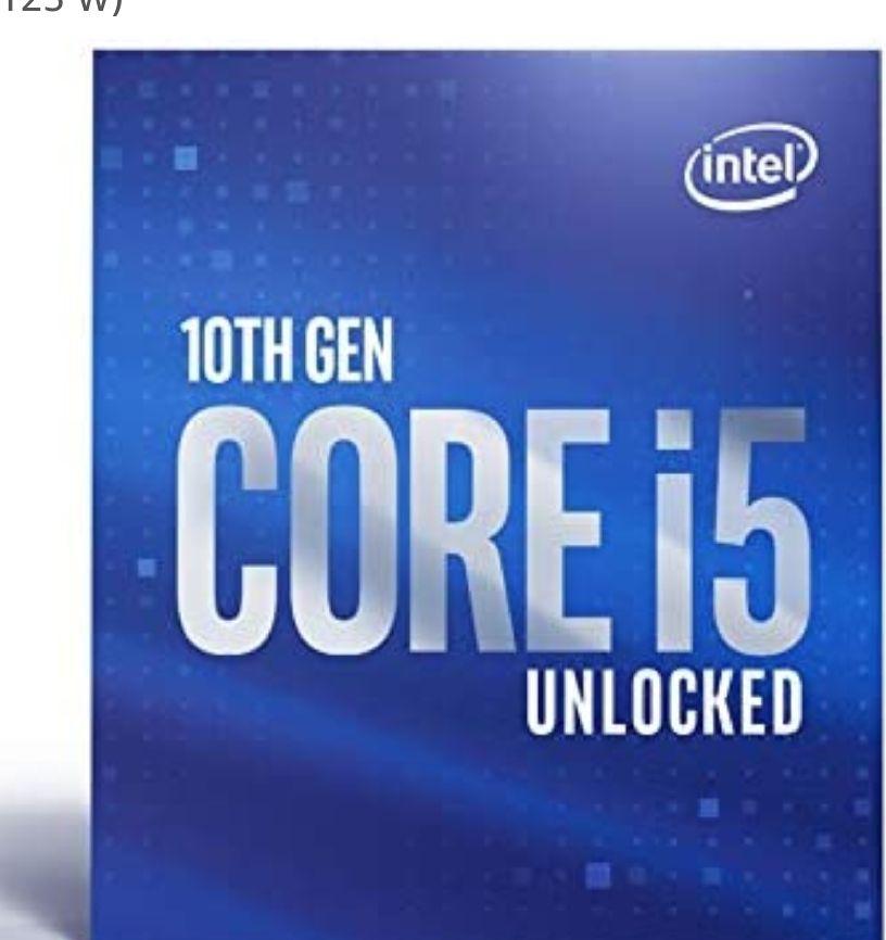 Intel Core i5-10600K - Procesador (4,10 GHz; Casquillo LGA1200; 125 W) también PcComponentes + 40€ Cashback directo