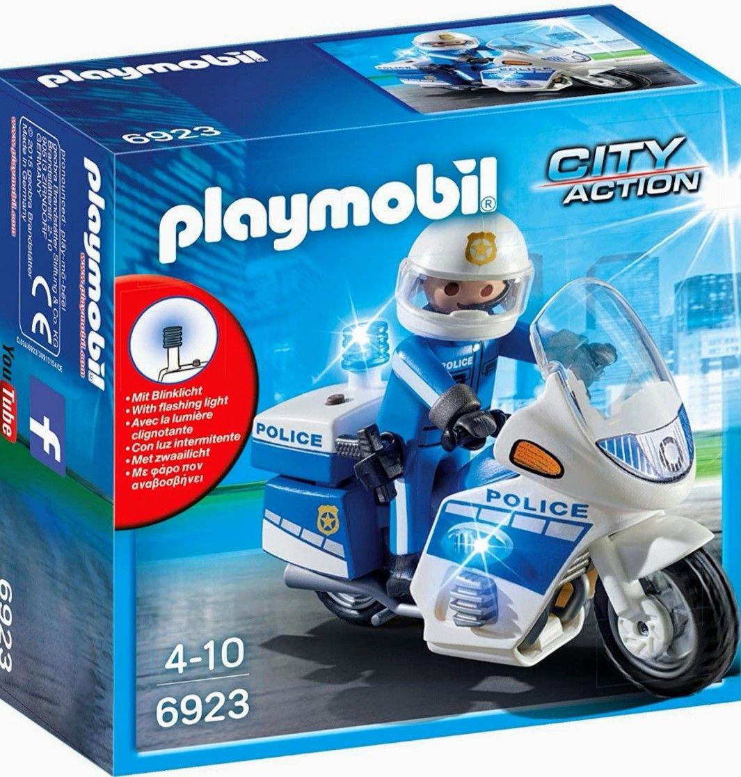 PLAYMOBIL City Action Policía con Moto y Luces LED (Precio mínimo)
