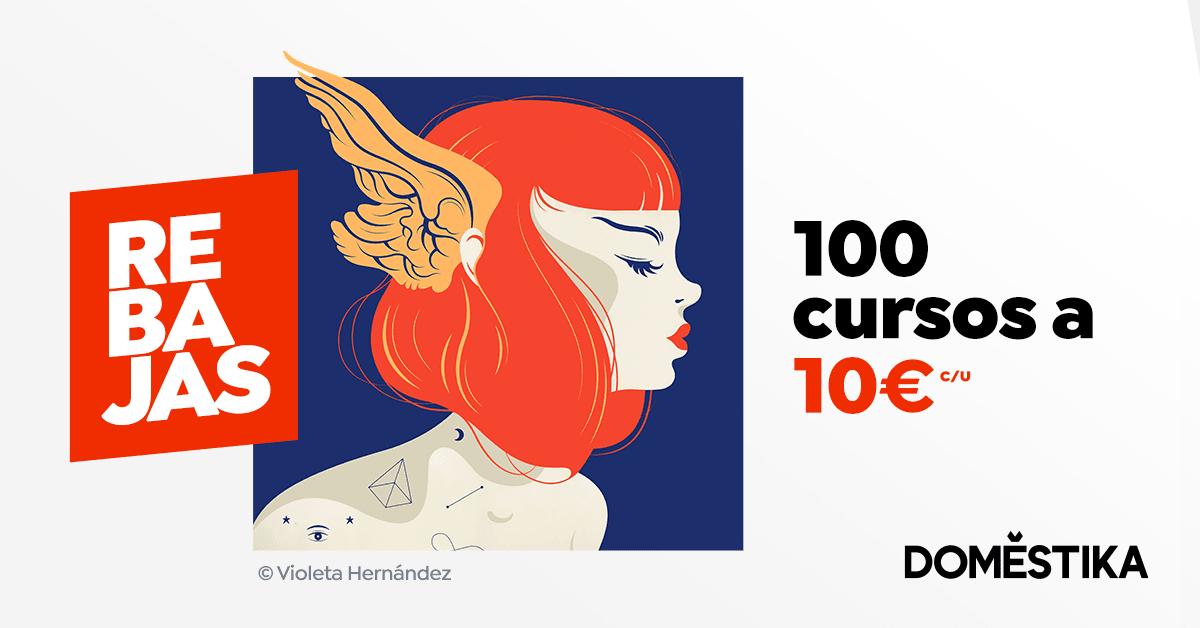 100 cursos por 10 € cada uno