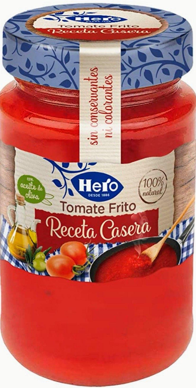 HERO - Tomate Frito,con Aceite de oliva, receta casera 370 g.(Precio mínimo)
