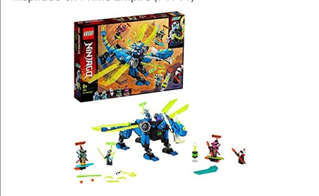 LEGO Ninjago - Ciberdragón de Jay, Set de Construcción con Minifiguras de Jay, Nya y Unagami