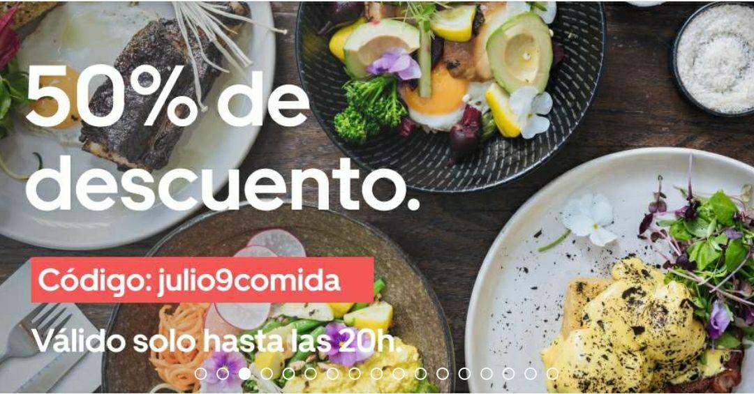 Uber Eats 50% de dto en Madrid (hasta las 20h)