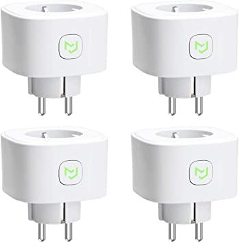 Enchufes Inteligentes 16A 3680W, Compatible con Alexa, Google Assistant y SmartThings, Wi-Fi Smart Plug