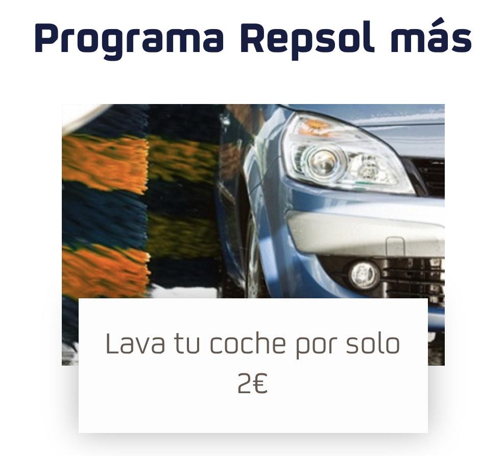Lava tu coche por 2€ en waylet