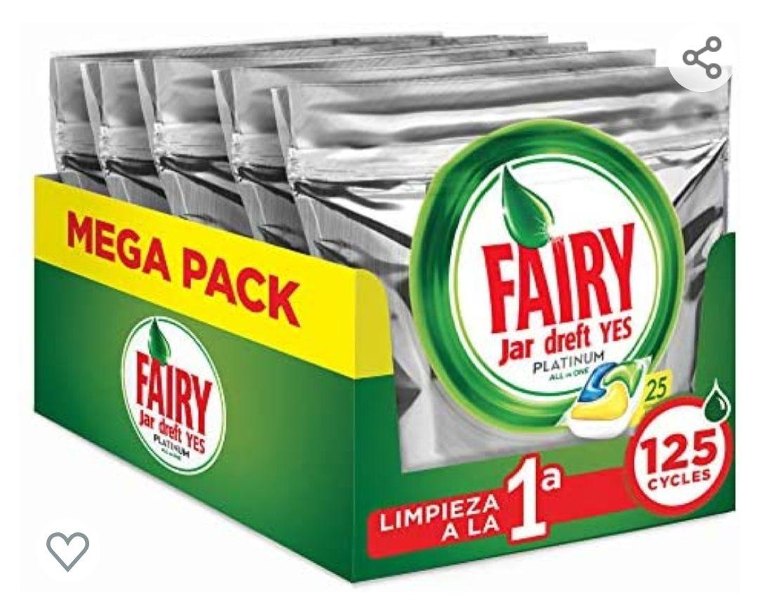 FAIRY Platinum All in One - Cápsulas para lavavajillas, Pack de 125 cápsulas sólo 0'15€ pastilla