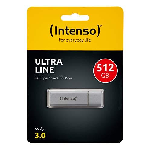 Pendrive de 512GB Intenso Ultra Line - USB 3.0, plata