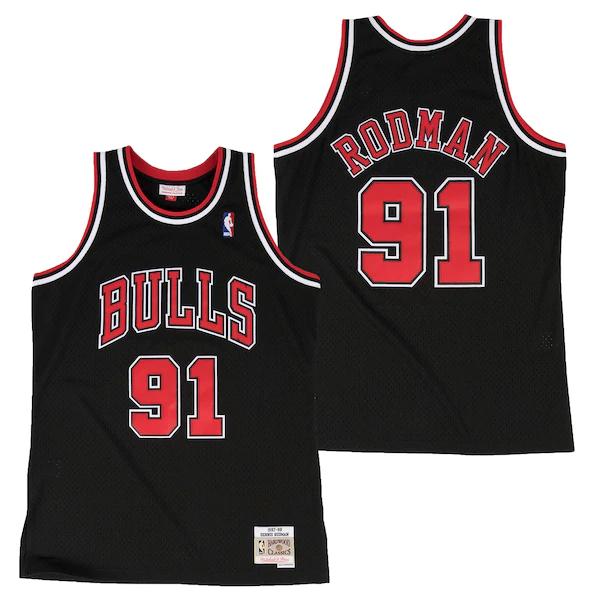 Camiseta Hardwood Classics Alternate Swingman de Dennis Rodman de los Chicago Bulls para hombre - NBA Hardwood Classics