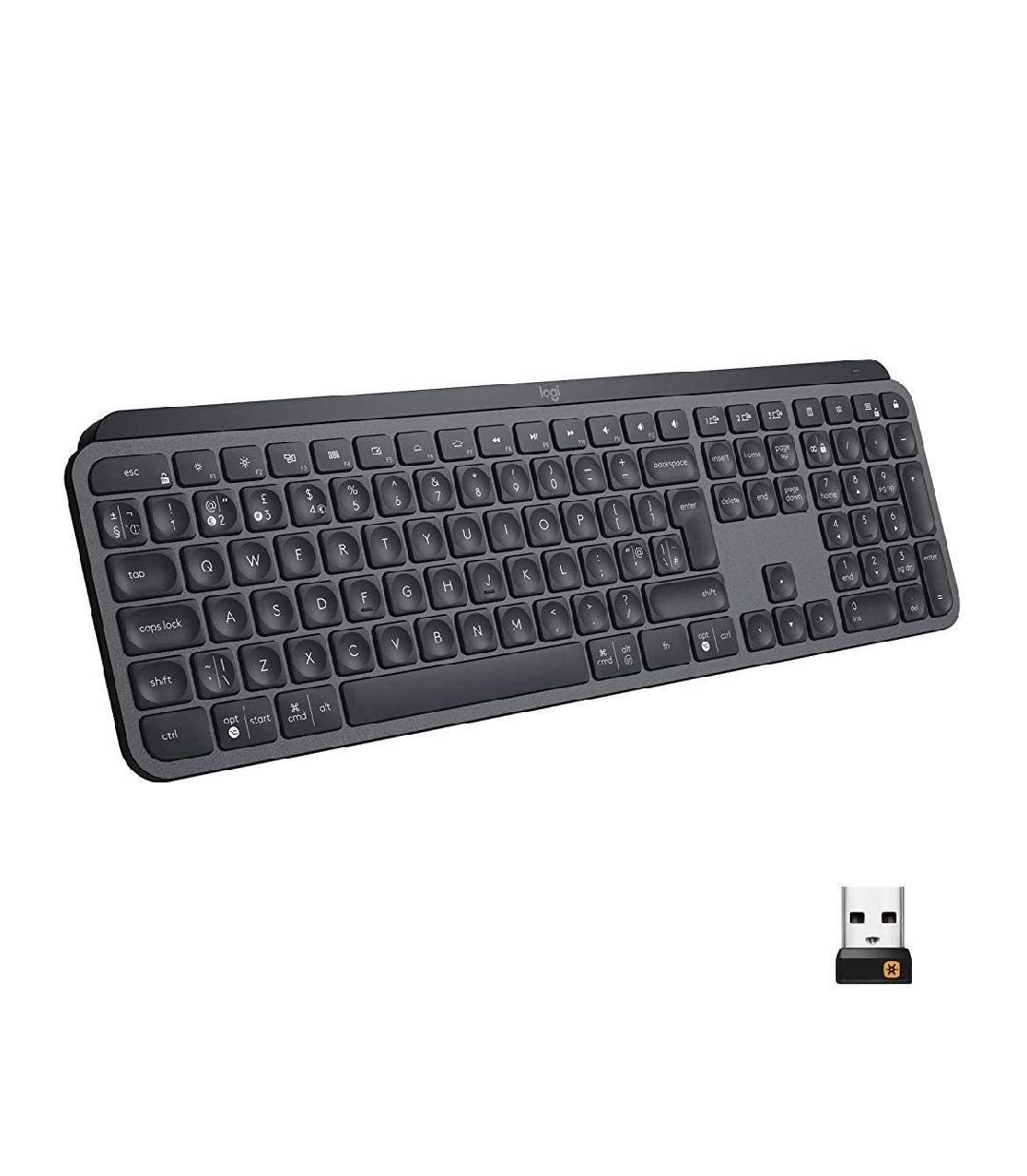 Logitech MX Keys - Teclado Inalámbrico