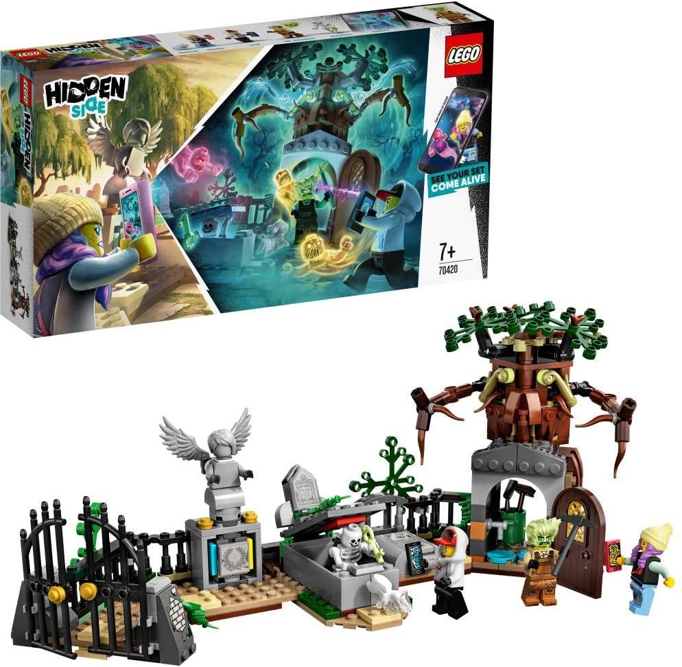LEGO - Hidden Side Misterio del Cementerio Juguete de construcción con realidad aumentada, incluye lápidas interactivas y cuatro minifiguras
