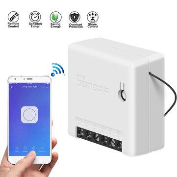 Mini interruptor inteligente de dos vías SONOFF 10A AC100-240V Alexa Google Home Assistant Nest admite el modo DIY Permite flashear