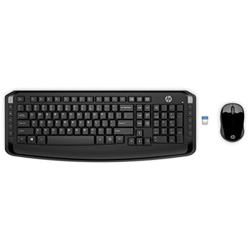 HP 300 - Teclado y ratón inalámbricos, color negro