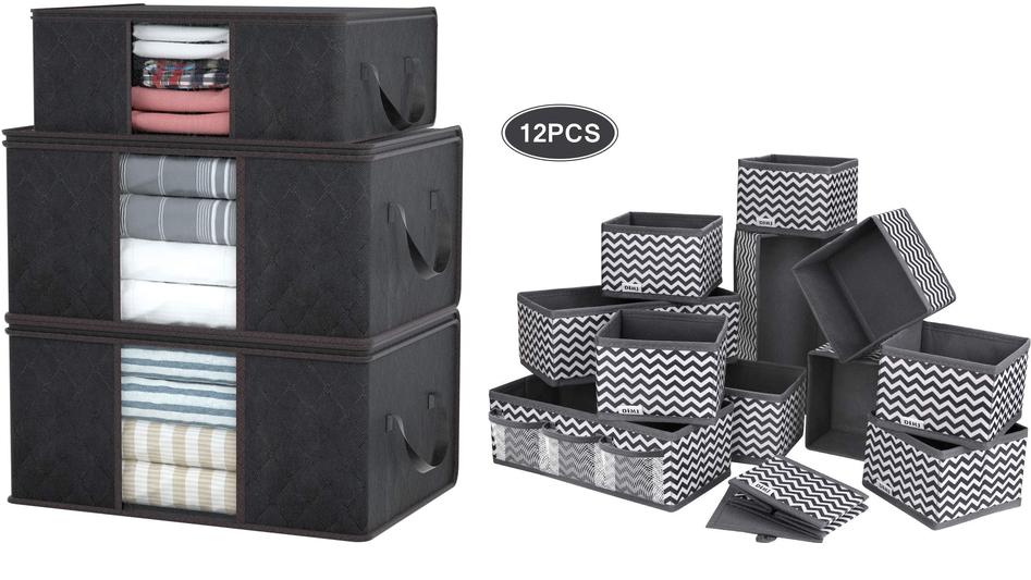 3X Organizadores +12 cajas almacenaje 11.2€