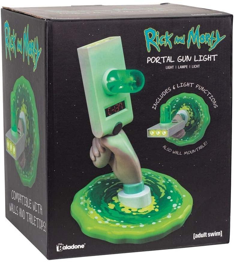 Lámpara LED Portal Gun. Rick y Morty