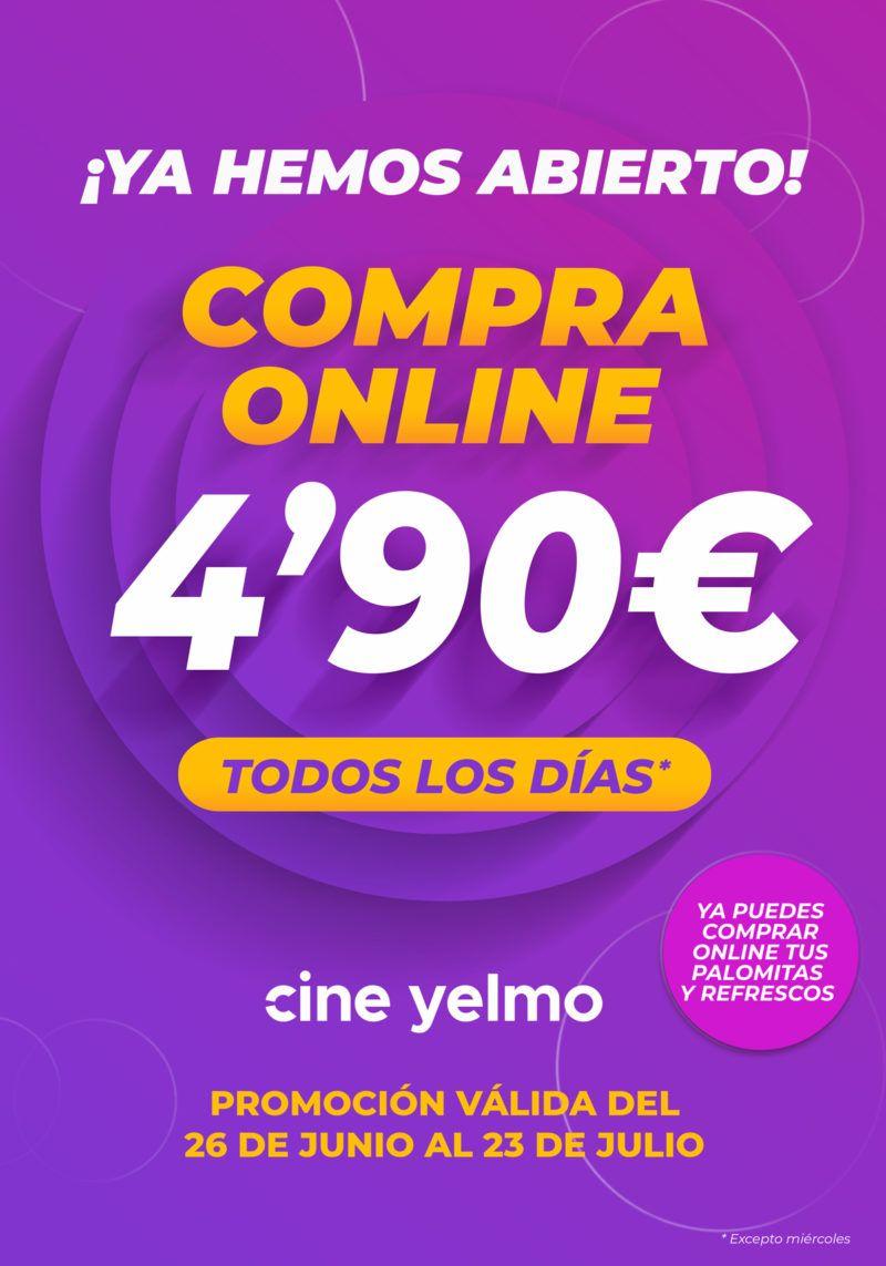 Entradas online Cines Yelmo todos los días