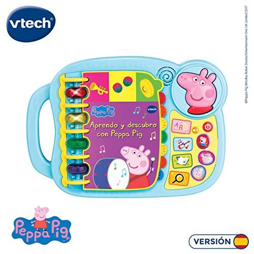 VTECH- Aprendo y Descubro con Peppa Pig Libro Infantil Que Enseña El Abecedario y Nuevas Palas(oferta vfkash)