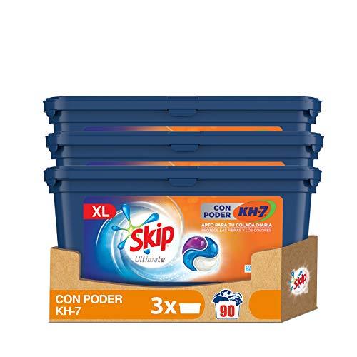 Skip Capsulas Ultímate Poder KH7 - Paquete de 3 x 30 lavados - Total: 90 lavados