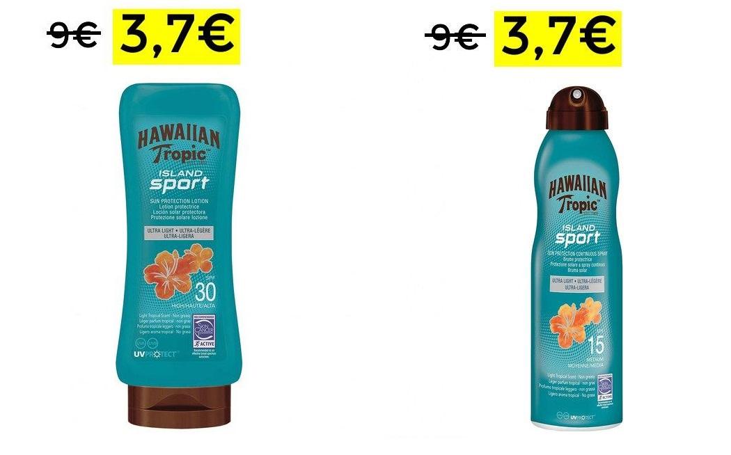 Cremas solares Hawaiian Tropic 3,75€