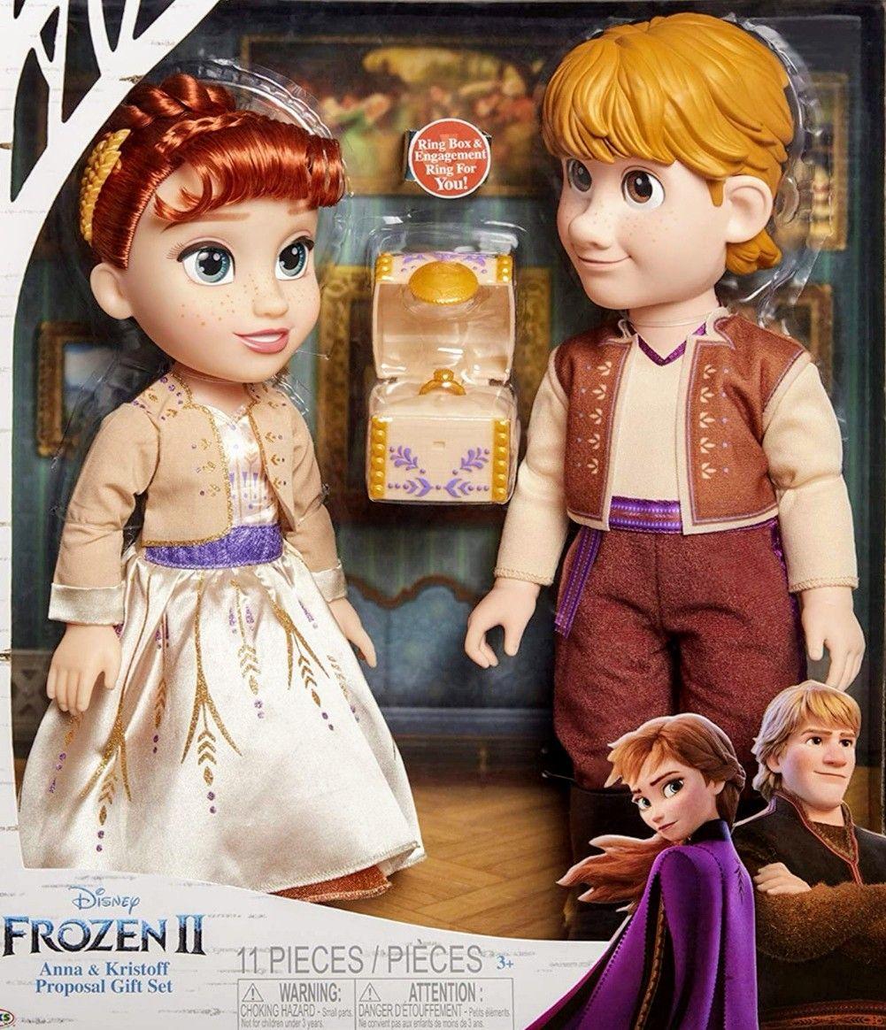 Set Frozen 2 Anna & Kristoff Couple de 35 cm.