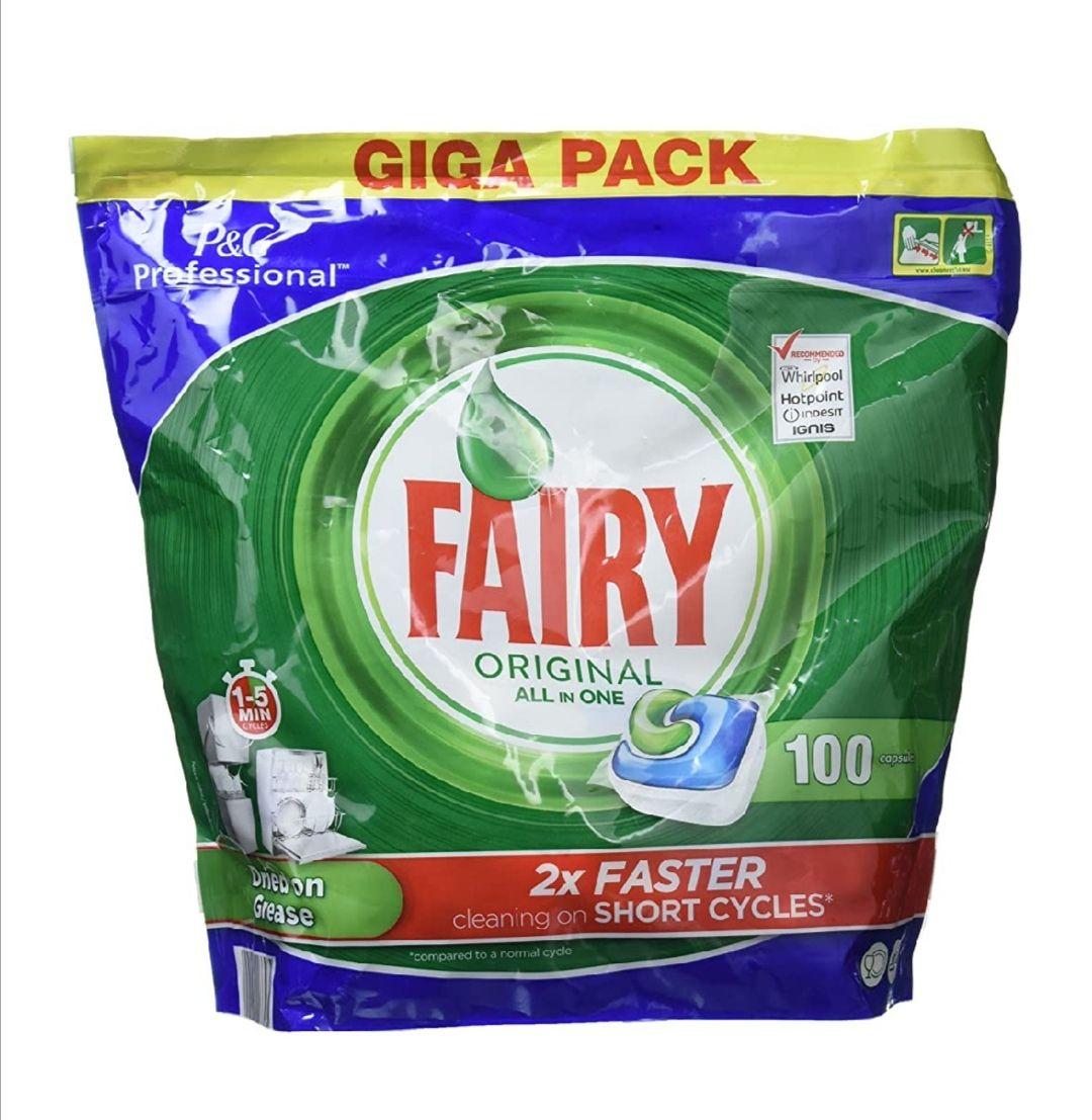 Fairy All in One - Cápsulas para lavavajillas, 100 unidades (+ barato con compra recurrente)