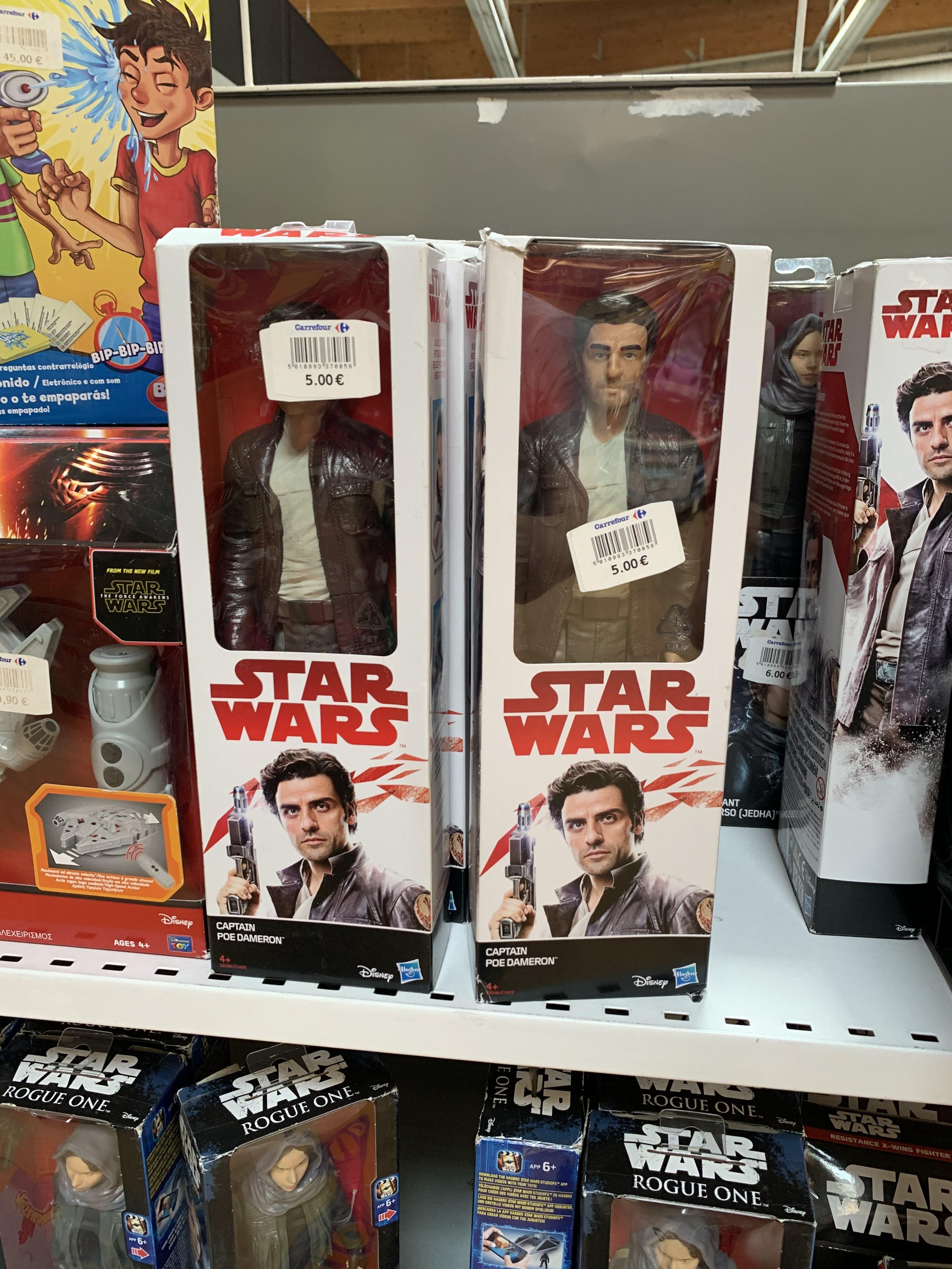 Figuras Star wars Los últimos Jedi (Carrefour Atalayas, Murcia)
