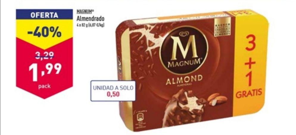 Helado Magnum Almendrado 4 uds.