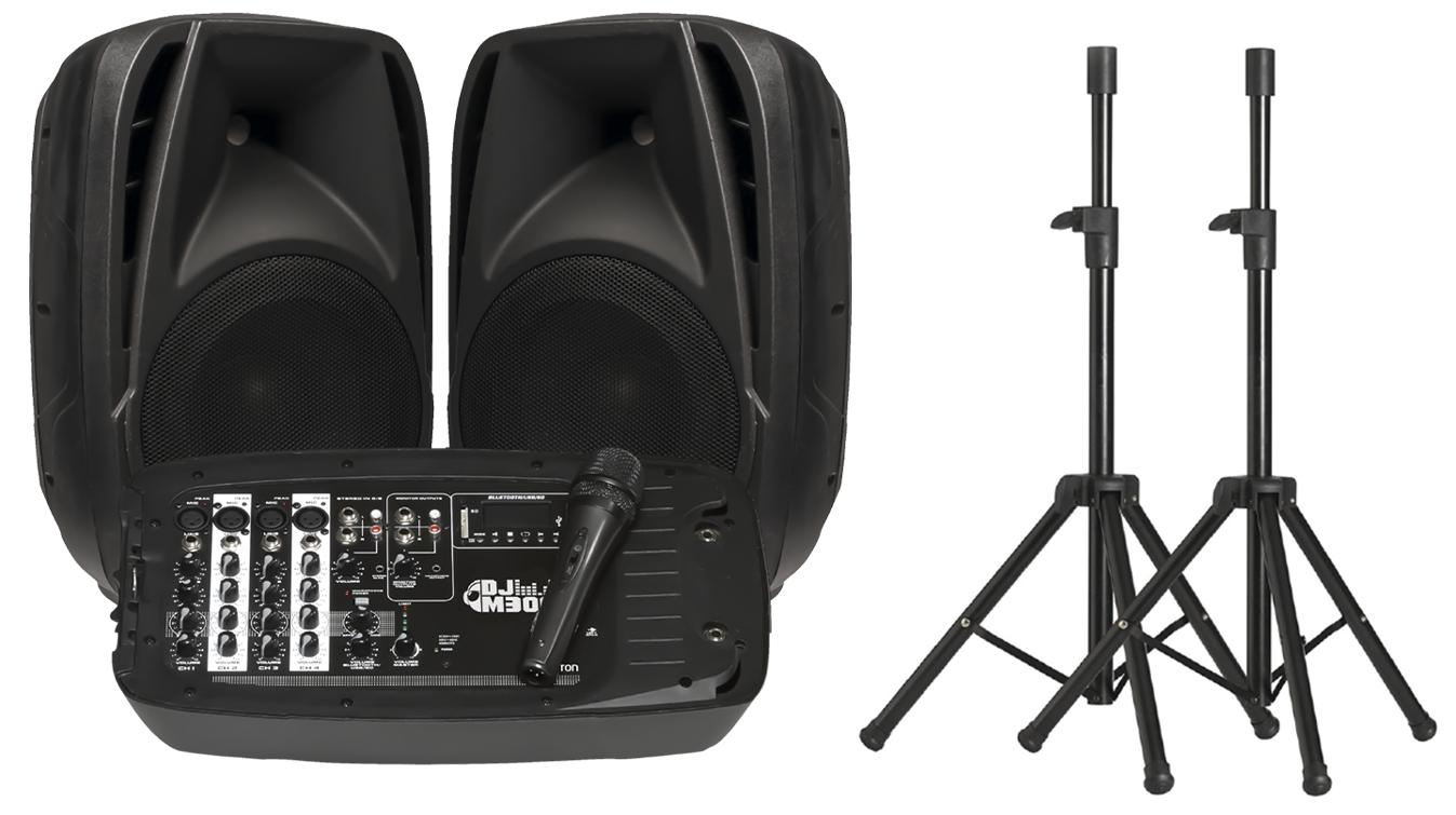 Altavoces con mesa de mezclas INFINITON DJ-M300 - 2x 100W