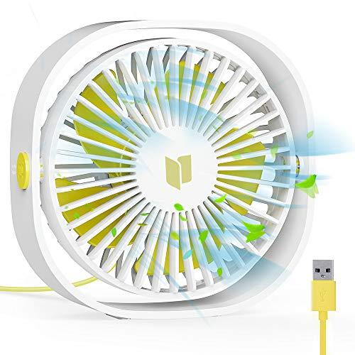 RATEL Ventilador de Mesa USB, Ventilador de Escritorio 12.5 cm Use con Cable de 1.2 metros, portátil