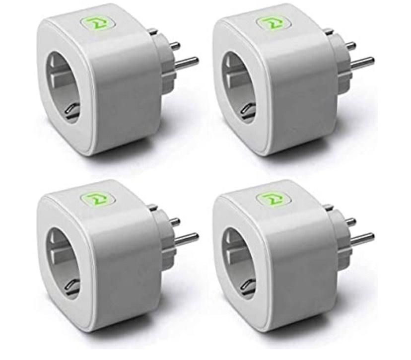 4 Enchufe Inteligentes MEROSS,Wi-Fi Smart Plug, 16A 3680W
