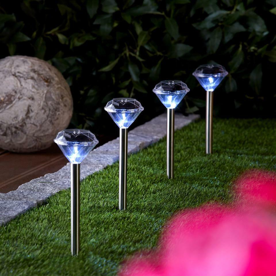 Lámpara solar Diamant (set de 4)