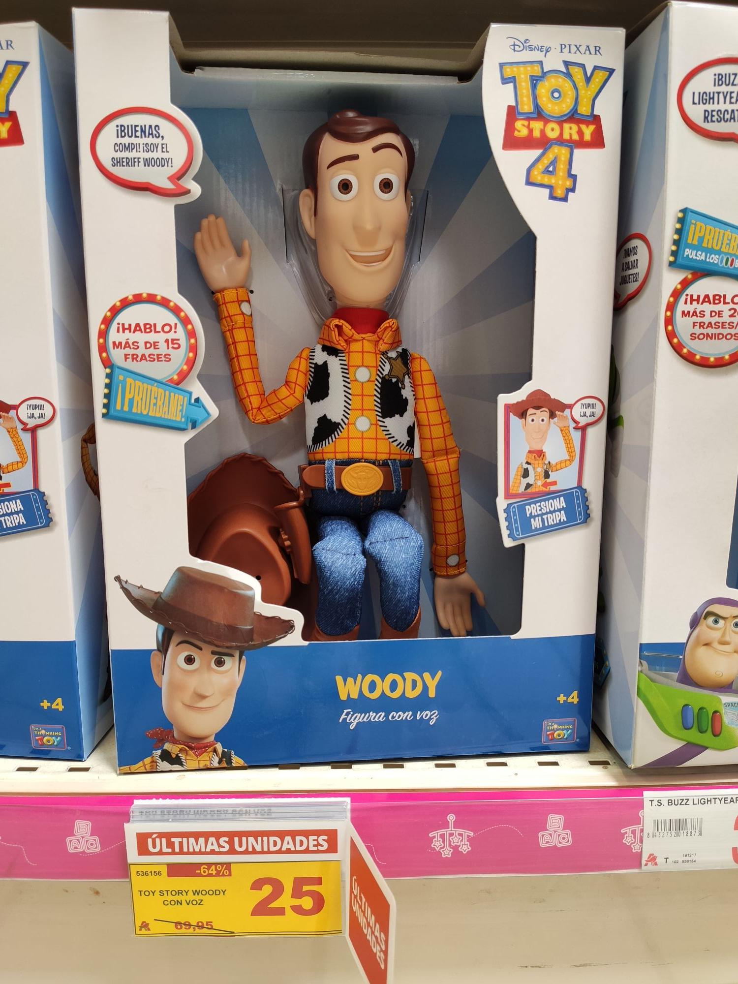 Muñeco Woody con voz Toy Story DISNEY PIXAR.