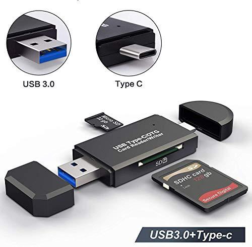 Lector de Tarjetas Memoria SD/Micro SD Lector Tarjetas SD USB 3.0 USB Tipo C