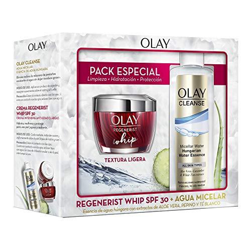 Olay Pack Regenerist Whip Crema Hidratante Día Textura Ligera SPF 30 + Cleanse .