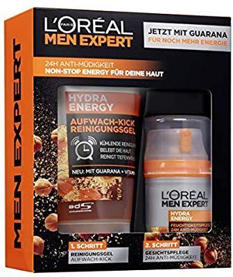 L'Oréal Set Regalo Hombre. Hidratante Guaraná(50ml)+Gel Lavado (150ml)