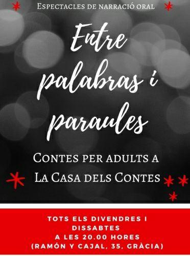 Barcelona - Entre palabras i Paraules: Cuentos para adultos