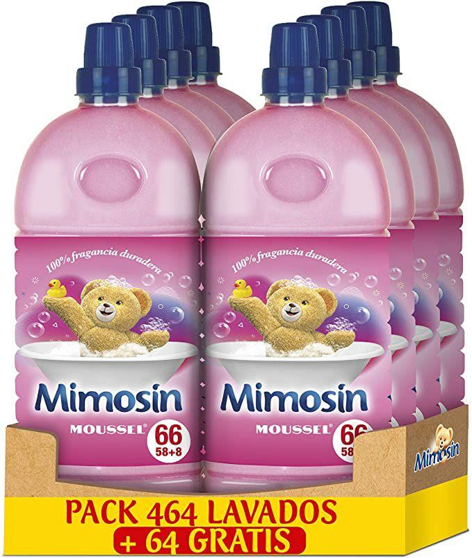 Mimosin Concentrado Suavizante Moussel 528 lavados (Pack 8 botellas )