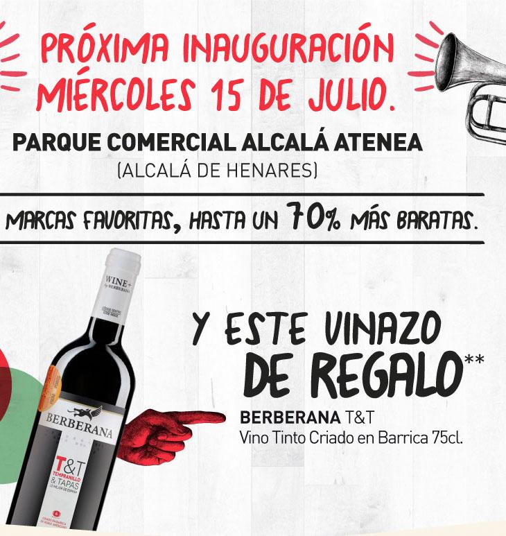 Vino Crianza Berberana Gratis en inauguración Primaprix Alcalá de Henares