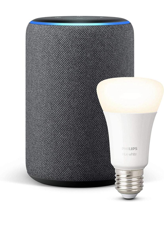 Echo plus 2ª gen+ Philips Hue White Bombilla LED E27
