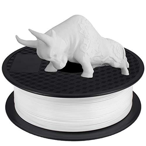 Filamento 1kg PLA 1.75 mm, GIANTARM Impresora 3D PLA Filamento Spool, Blanco