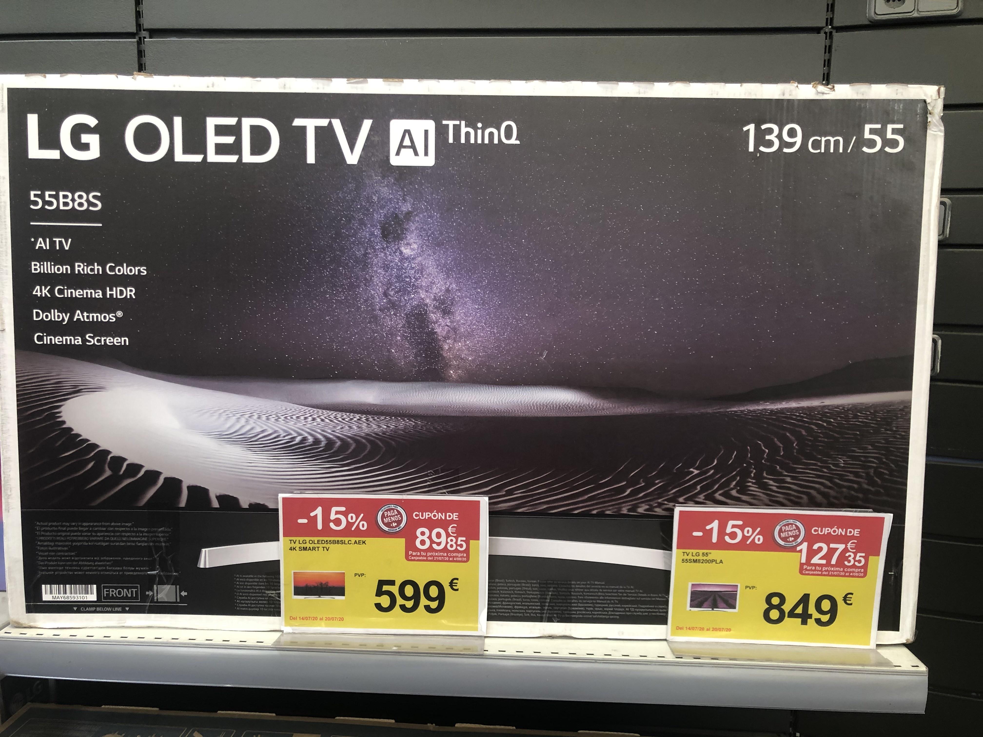 """TV LG OLED de 55"""" 4k C8 expo"""